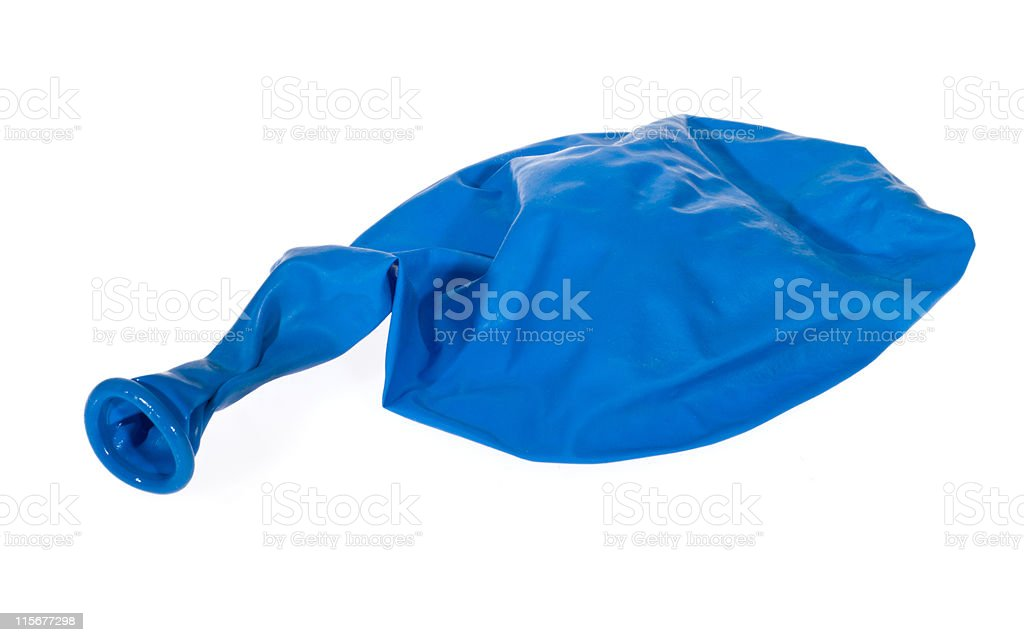 Blue balloon stock photo