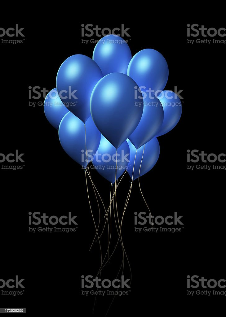 Blue Balloons royalty-free stock photo