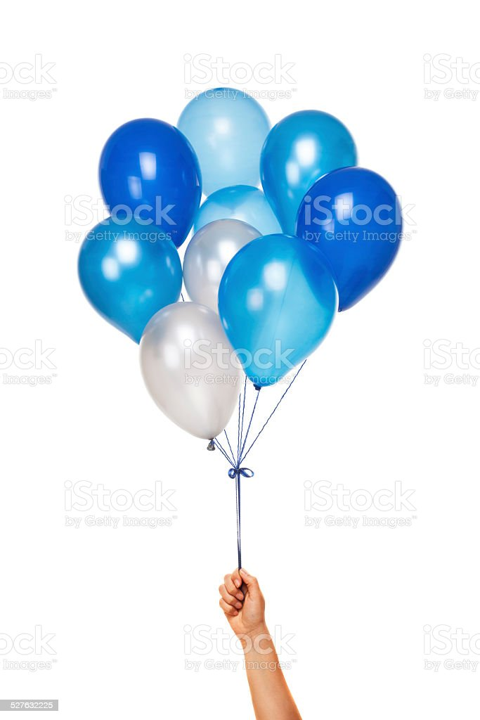 Blue Balloons stock photo