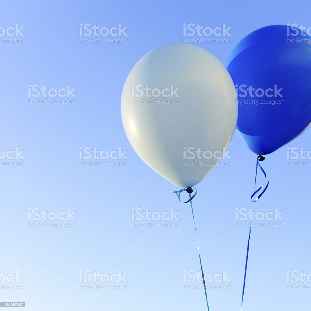Blue Balloons - Square royalty-free stock photo