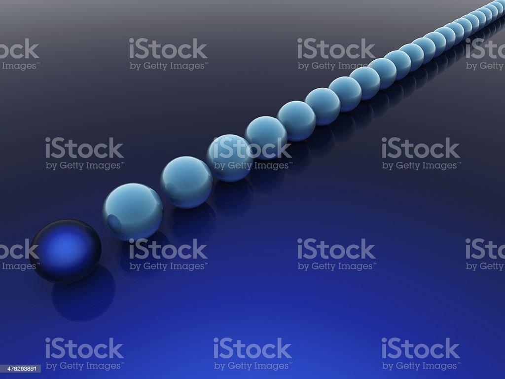Blue balls royalty-free stock photo