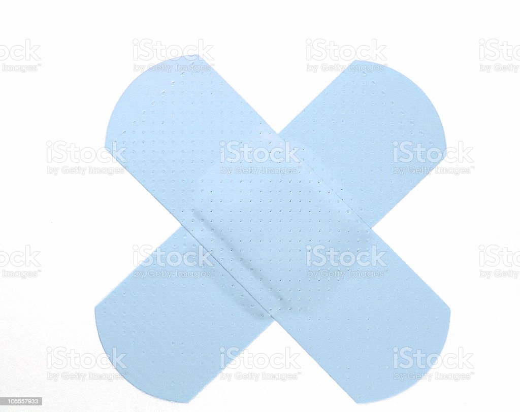 Blue Bandaid royalty-free stock photo