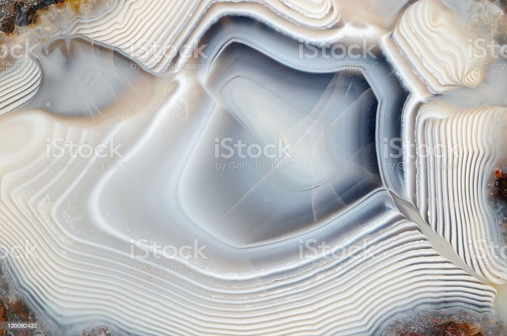 blue banded agate in fullframe stock photo