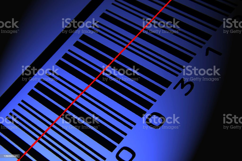 Blue barcode scan # 2 royalty-free stock photo