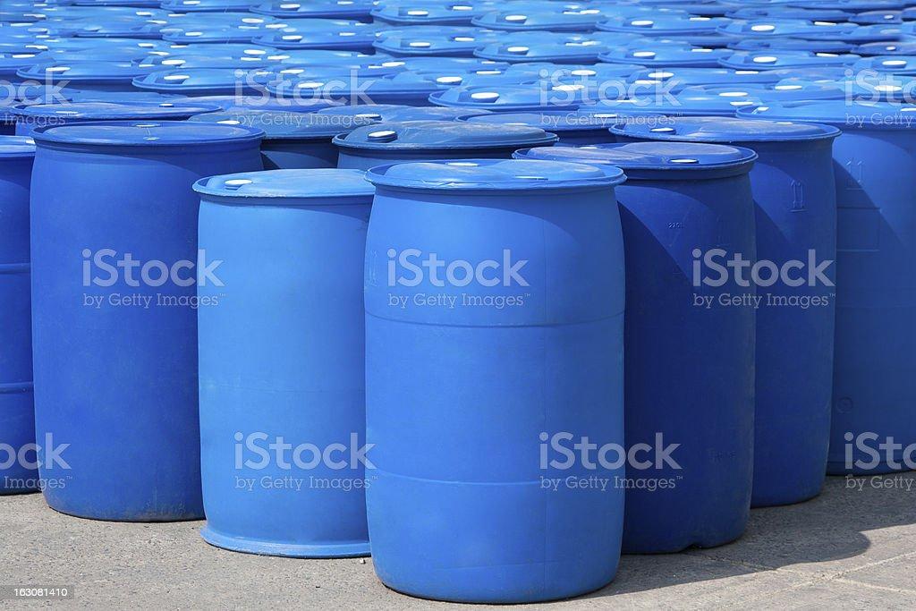 Blue Barrels royalty-free stock photo