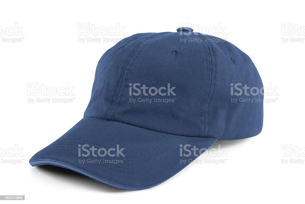 Blue Baseball Cap stock photo