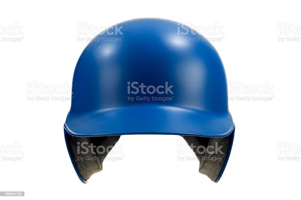 Blue Baseball / Softball Batting Helmet against white background royalty-free stock photo