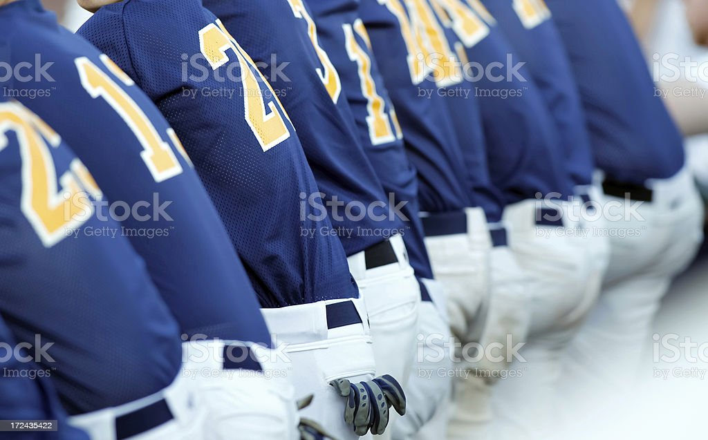 Blue Baseball Teammates stock photo