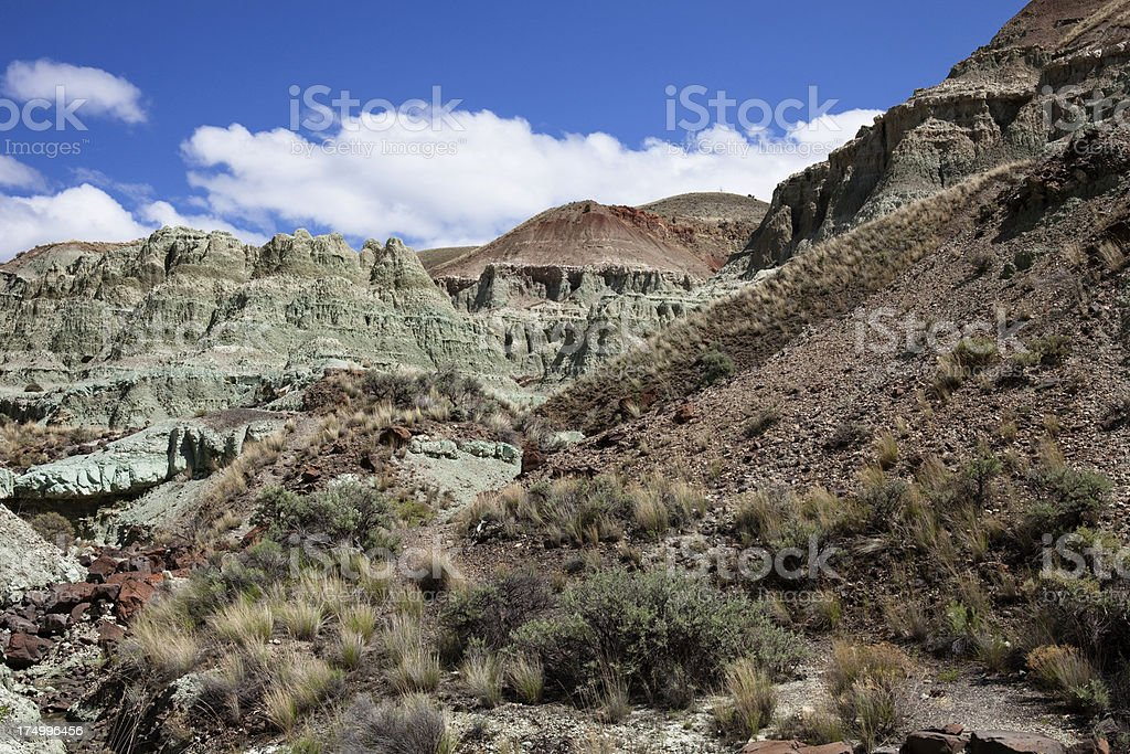 Blue Basin at John Day Fossil Beds National Monument stock photo