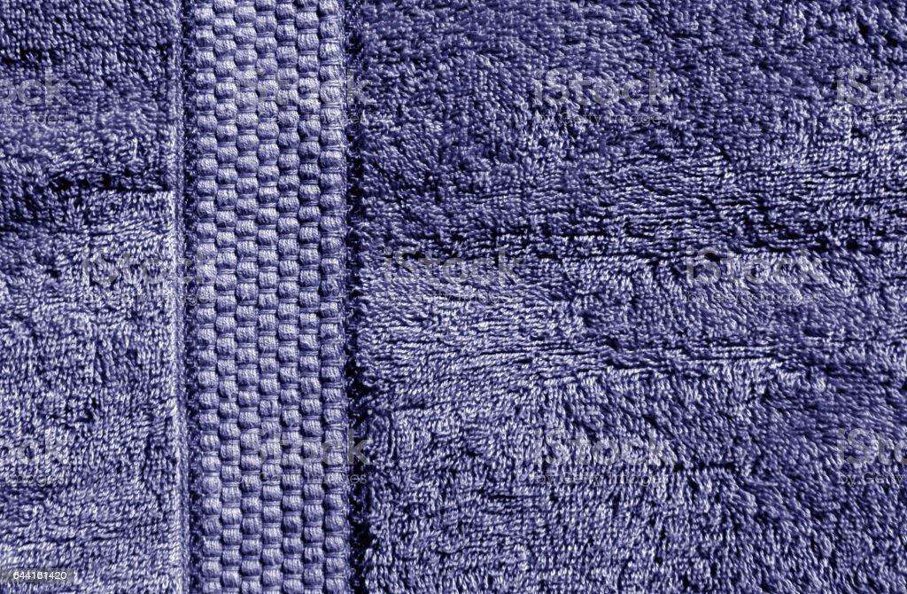 Blue bath towel texture stock photo