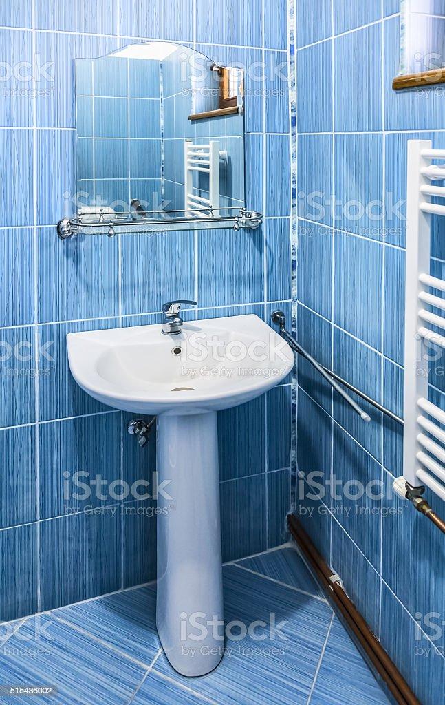 Blue Bathroom stock photo