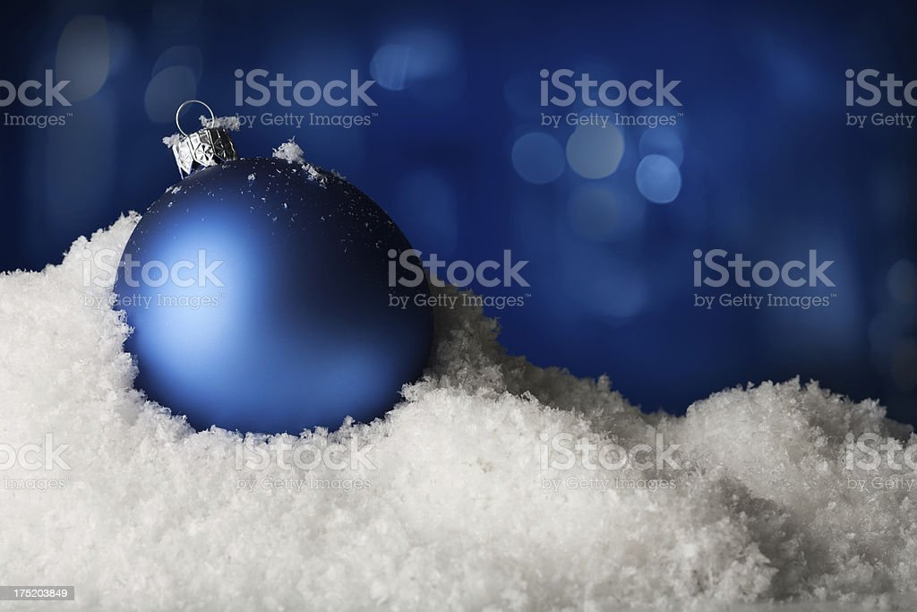 Blue Bauble royalty-free stock photo