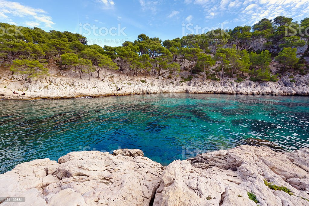 Blue Bay at French Riviera royalty-free stock photo
