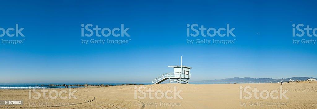 Blue beach horizon royalty-free stock photo