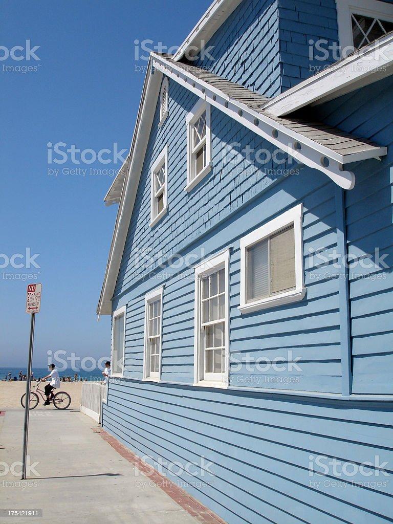 Blue Beach House royalty-free stock photo
