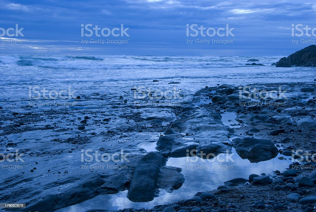 Blue Beach stock photo