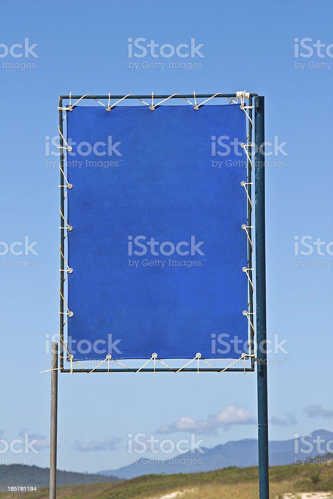 Blue beach sign stock photo