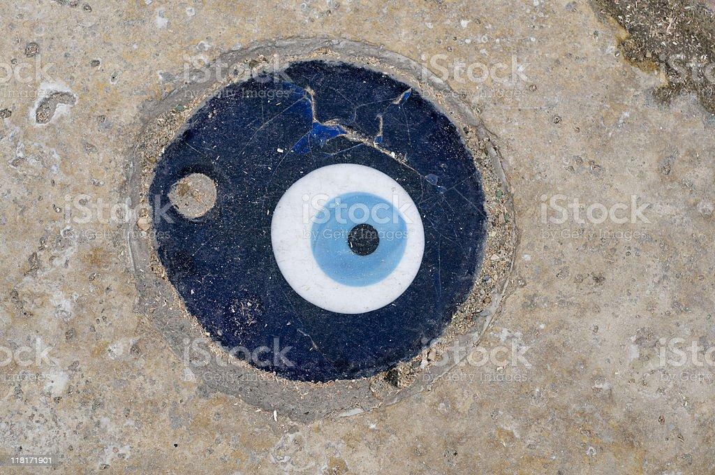 Blue bead, evil eye, Turkey stock photo