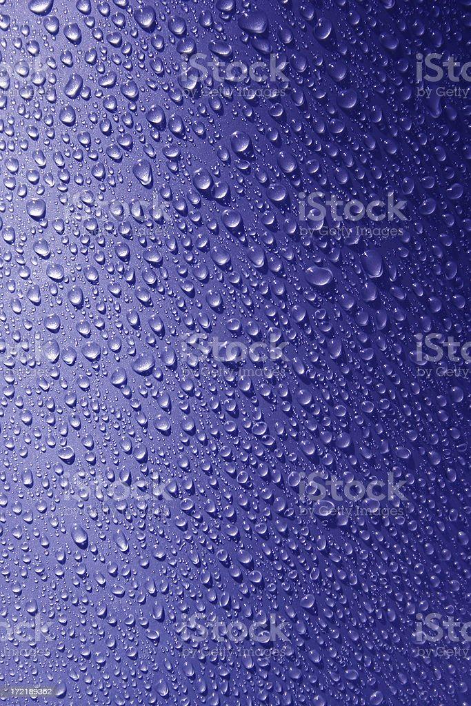 Blue Beads of Rain stock photo