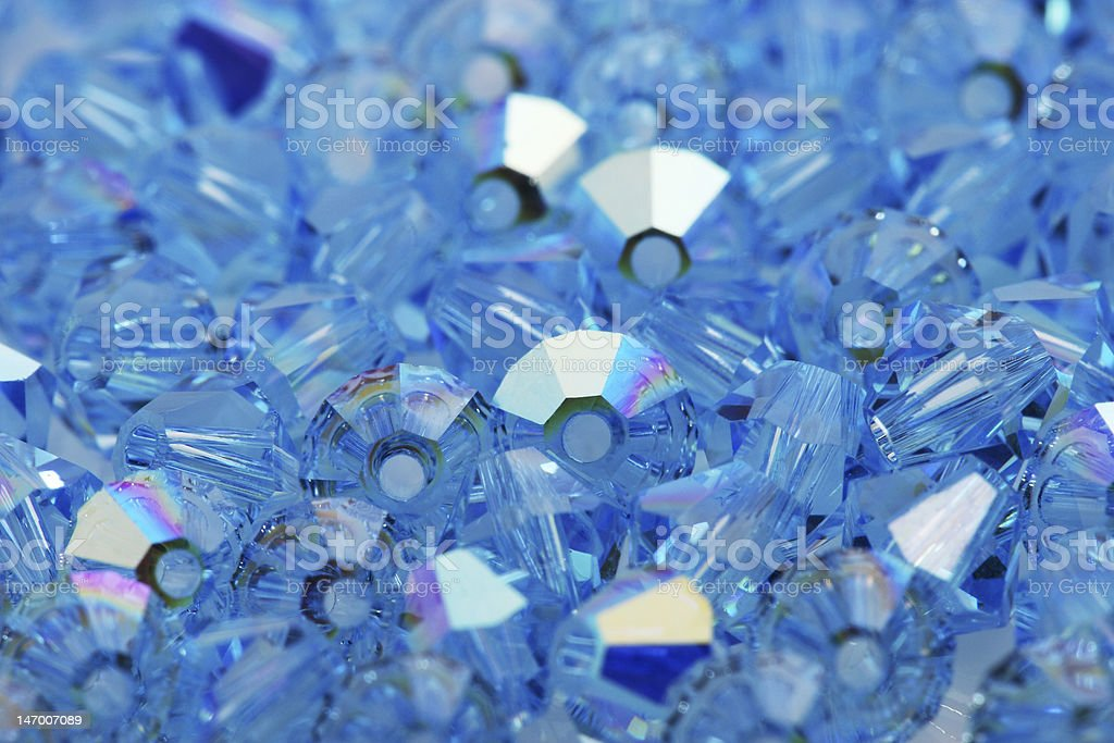 Blue Beads stock photo