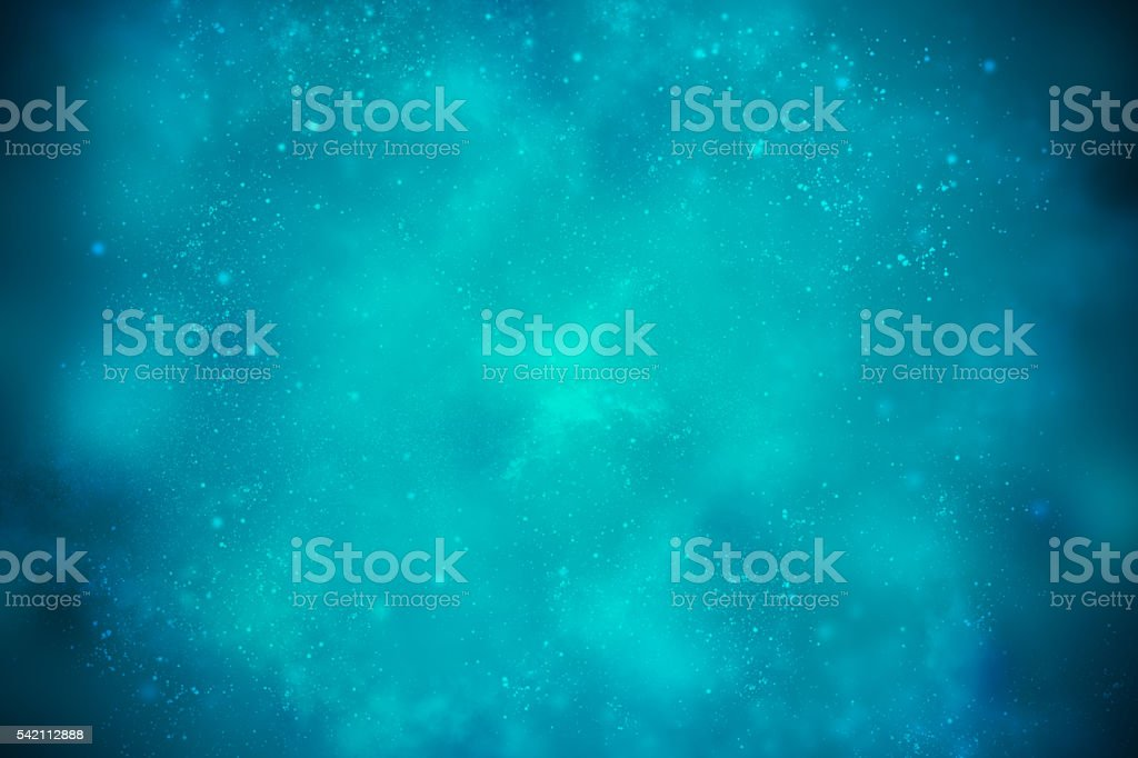 Blue beautiful space background with dark edges stock photo