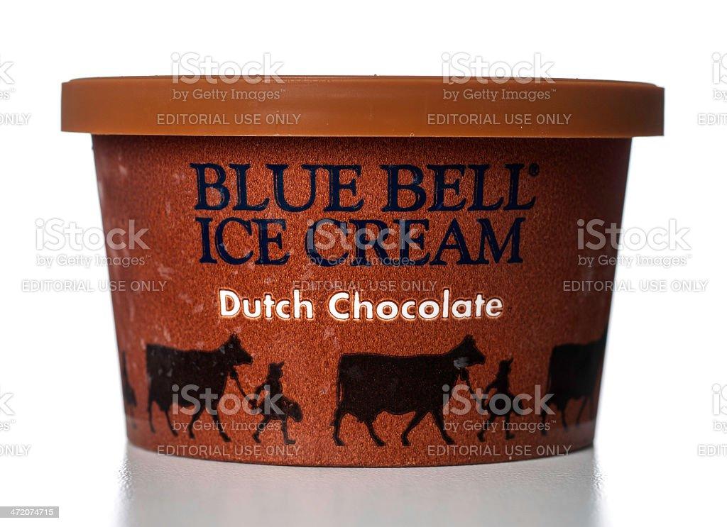 Blue Bell Chocolate Ice Cream jar stock photo