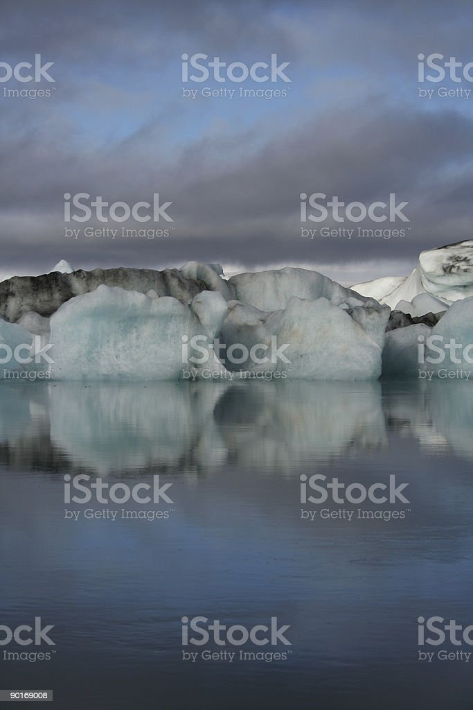 Blue bergs royalty-free stock photo