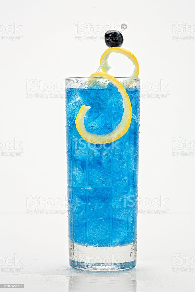 Blue Berry Fizz stock photo
