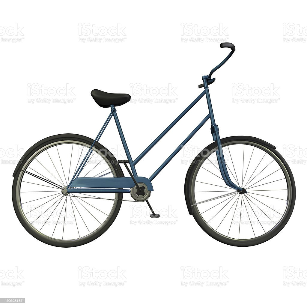Blue Bicycle stock photo