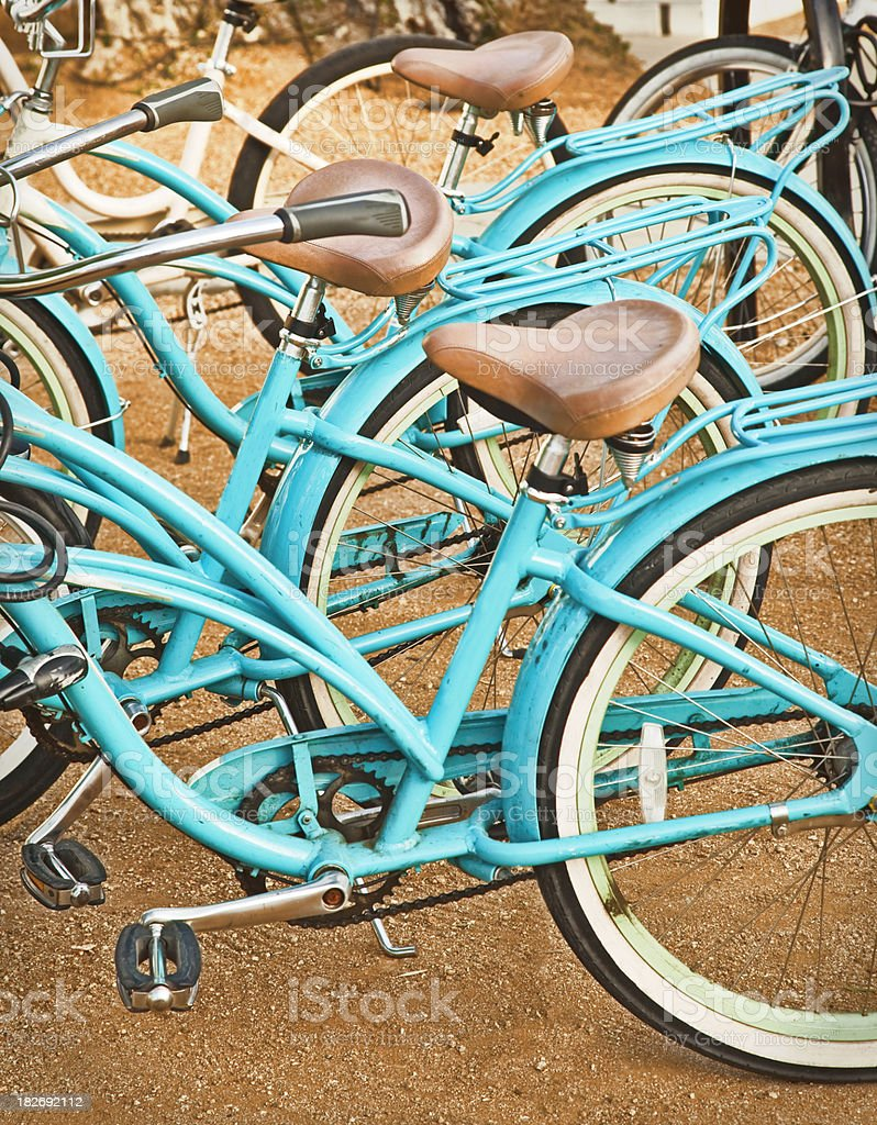 Blue Bicycles royalty-free stock photo
