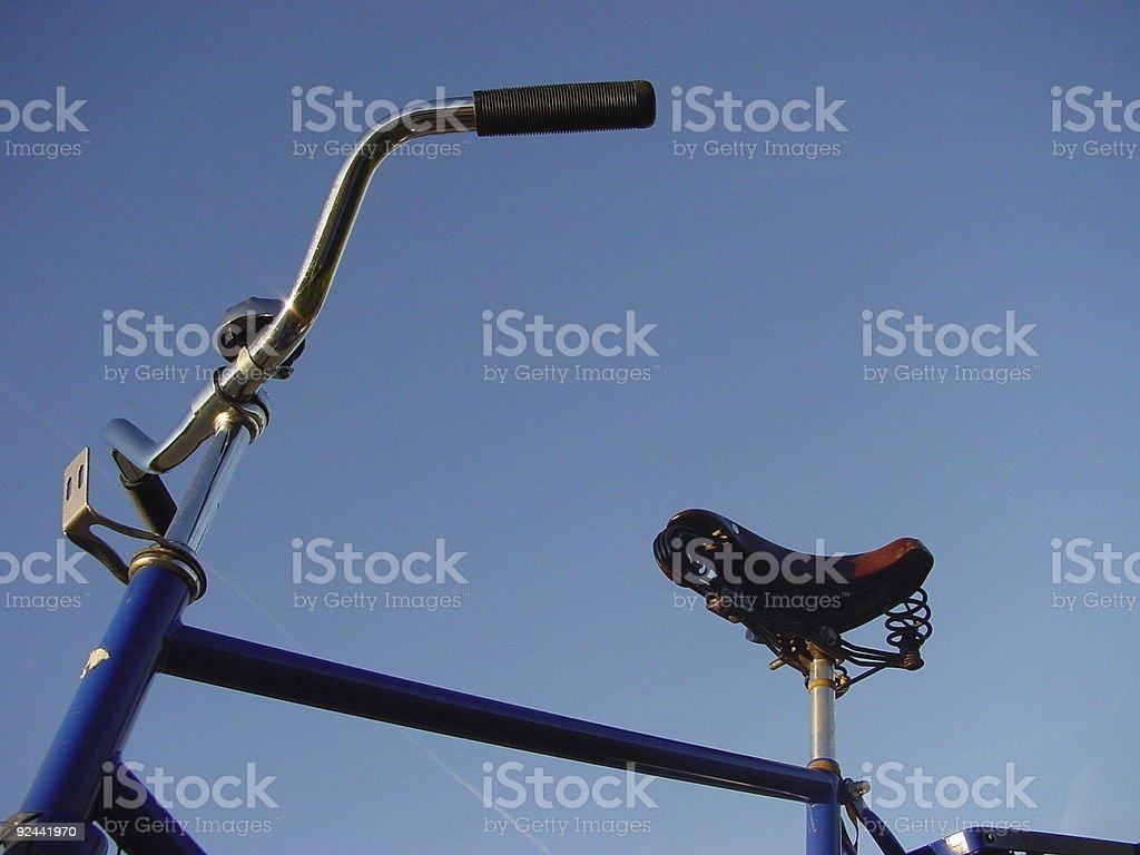 blue bike 2 stock photo