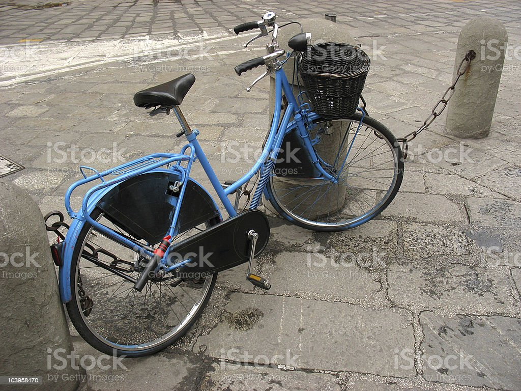 Blue Bike royalty-free stock photo