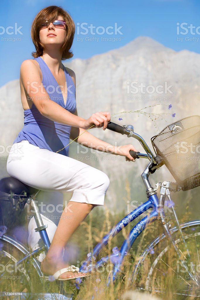 Blue Bike stock photo