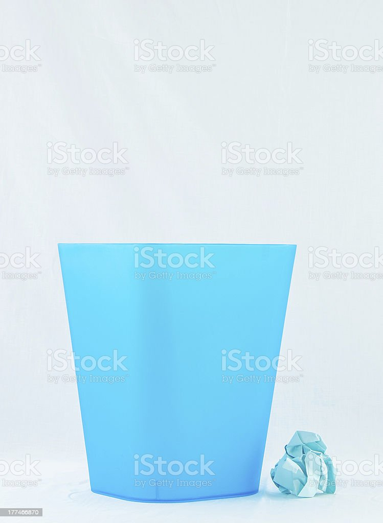 Blue bin royalty-free stock photo