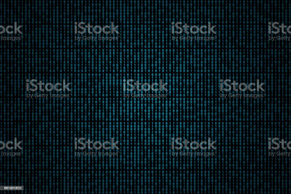 Blue binary code stock photo