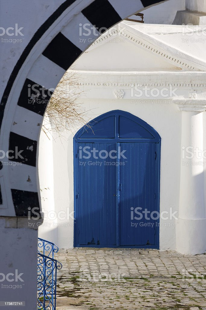 a Tunis house gate in Sidi Bou Said