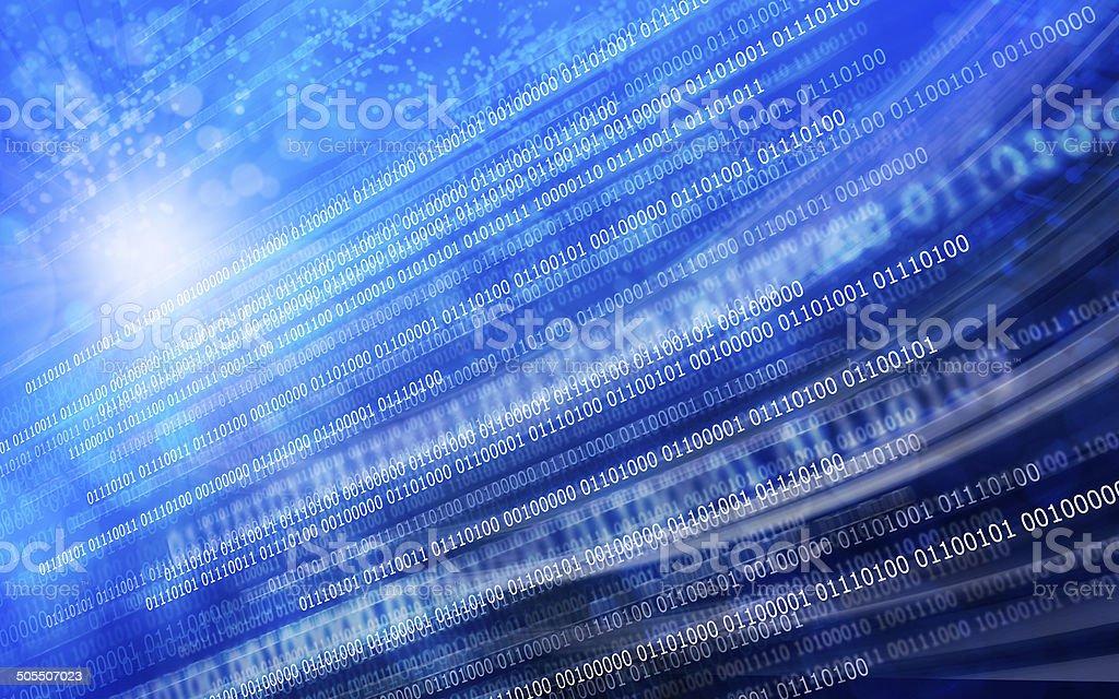 Blue black background binary code stock photo