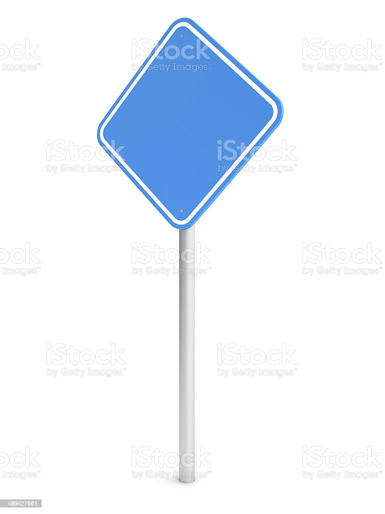 Blue blank rectangle traffic sign royalty-free stock photo