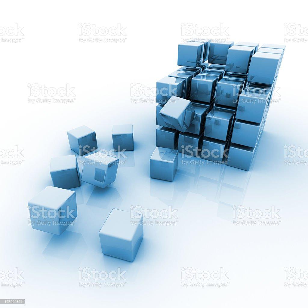 Blue Blocks 3d royalty-free stock photo