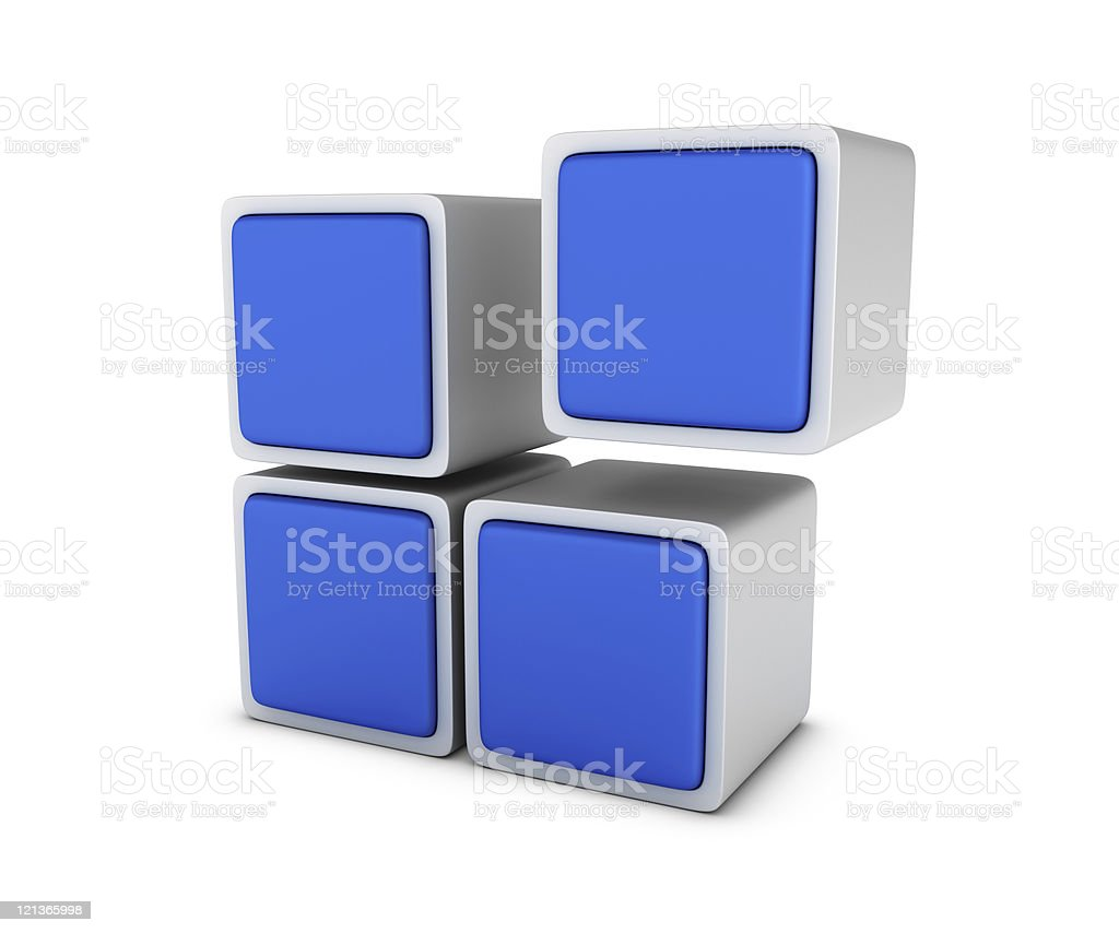 Blue Blocks royalty-free stock photo