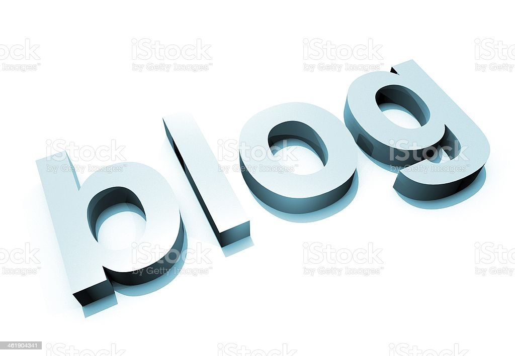 Blue Blog 3D Letter royalty-free stock photo