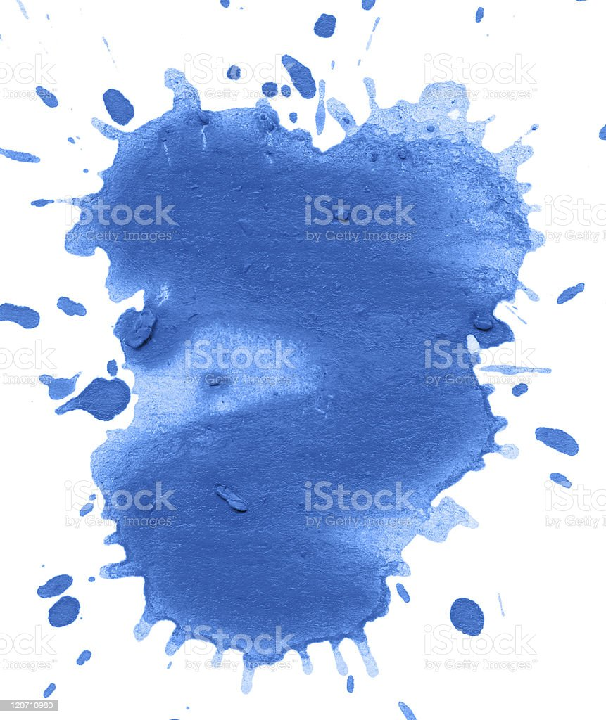 blue blot isolated on white for your design royalty-free stock vector art