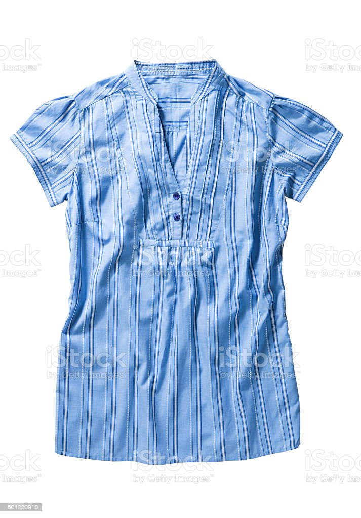 blue blouse stock photo