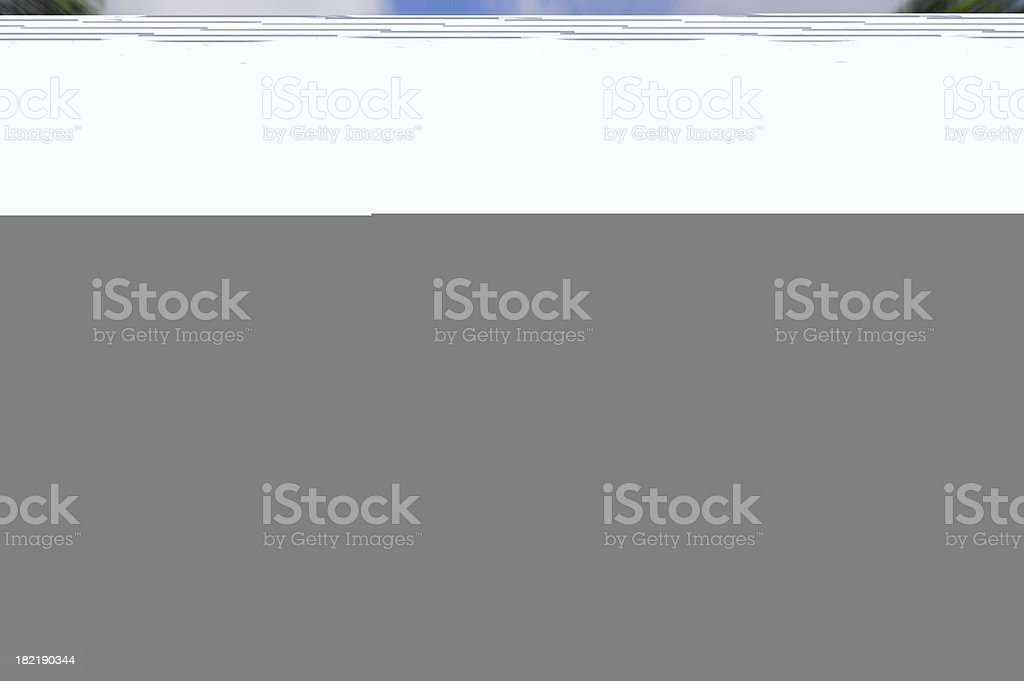 A blue blur, grey and white screen Image failed to load stock photo