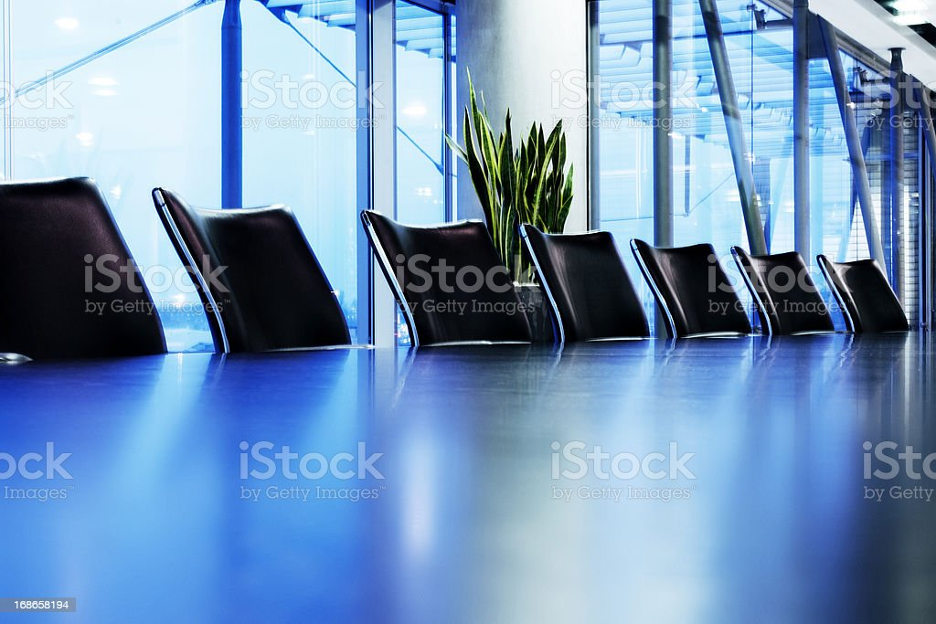 Blue boardroom royalty-free stock photo
