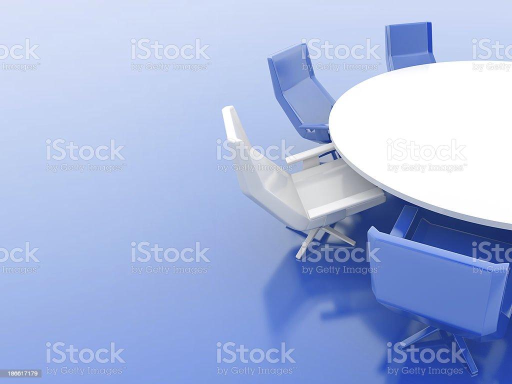 Blue Boardroom royalty-free stock photo