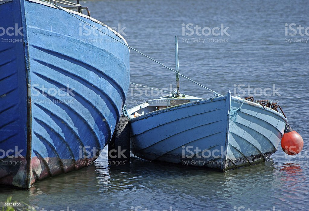 Blue boats royalty-free stock photo