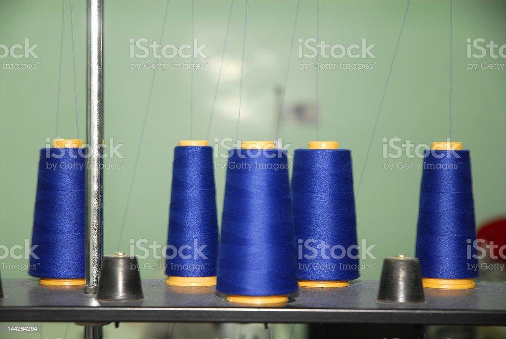 Blue bobbin royalty-free stock photo