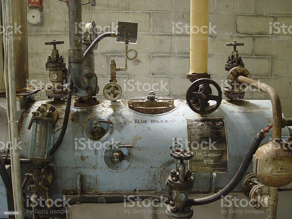 blue boiler stock photo