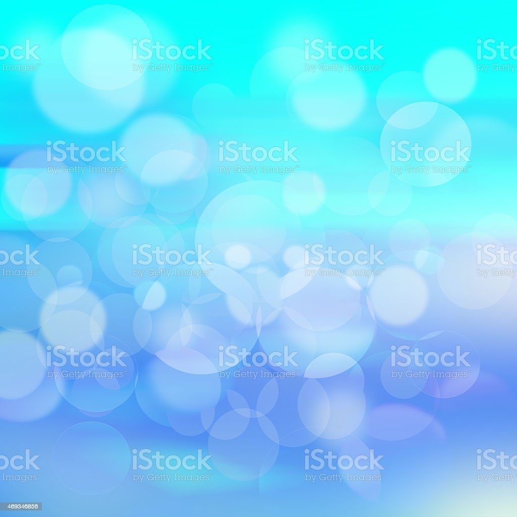 Blue bokeh abstract light background stock photo